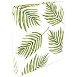 "bloom daily planners Binder (+) 3 Ring Binder (+) 1 Inch Ring (+) 10"" x 11.5"" - Palm Leaves"