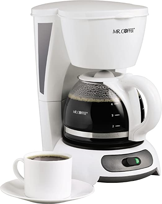 Amazon.com: Cafetera Mr. Coffee para 4 tazas, Blanco ...