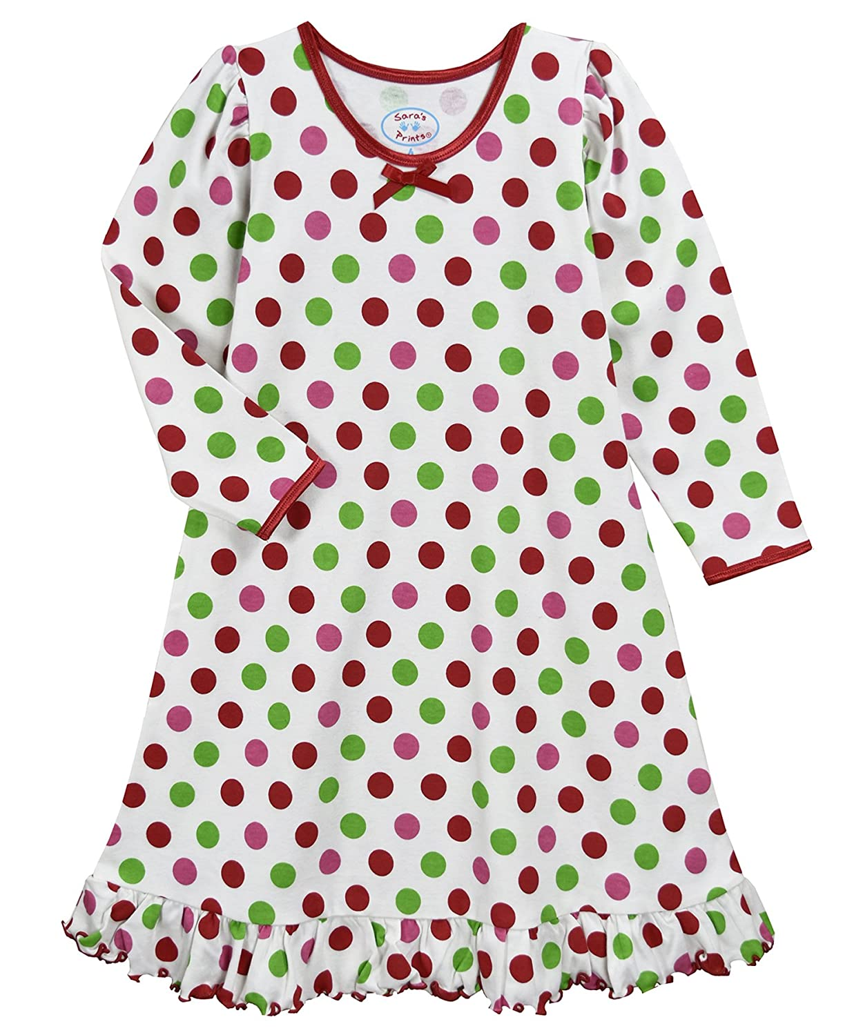 Amazon.com  Sara s Prints Girls  Whirl and Twirl Long Sleeve Nightgown   Clothing a65a87691