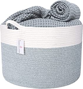 "XXL Cotton Rope Blanket Basket 20"" x 20"" x 13.3"" 