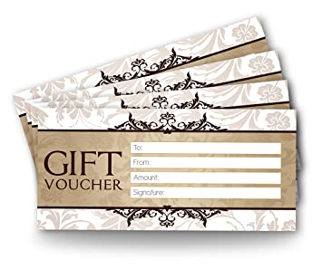 Blank Voucher | Blank Gift Vouchers X 12 Design 2 Cream Or White White Amazon