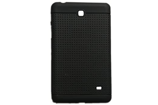 KANICT Dotted Matte Finished Soft Rubbersied Back Case Cover for Samsung Galaxy Tab 4 7.0 T231  Black