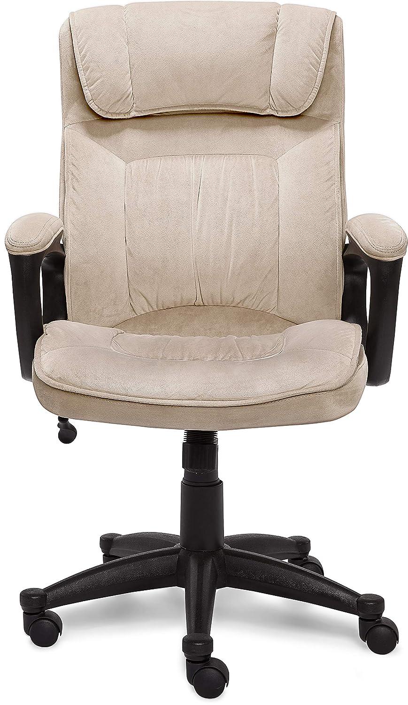 Microfiber Black Serta Style Hannah I Office Chair