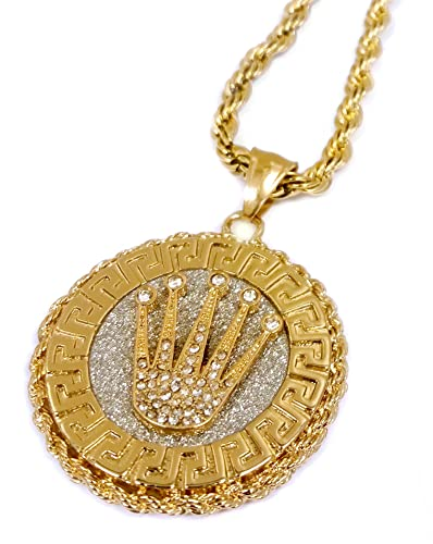 crown necklace chanel mg cc modaselle medallion