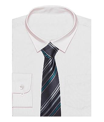 ZipZappa Boda Bautizo Niños Manga Larga Formal Camisa y Corbata ...