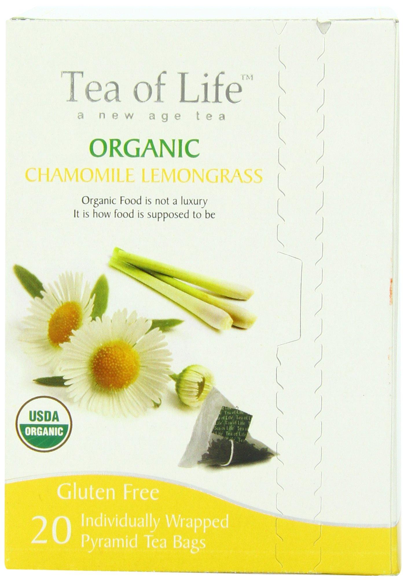 Tea Of Life Organic Chamomile, Lemongrass, 20 Count