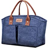 Lunch Bags for Women Insulated Fashionable Lunch Box Large Adult Lunch Bag for Work