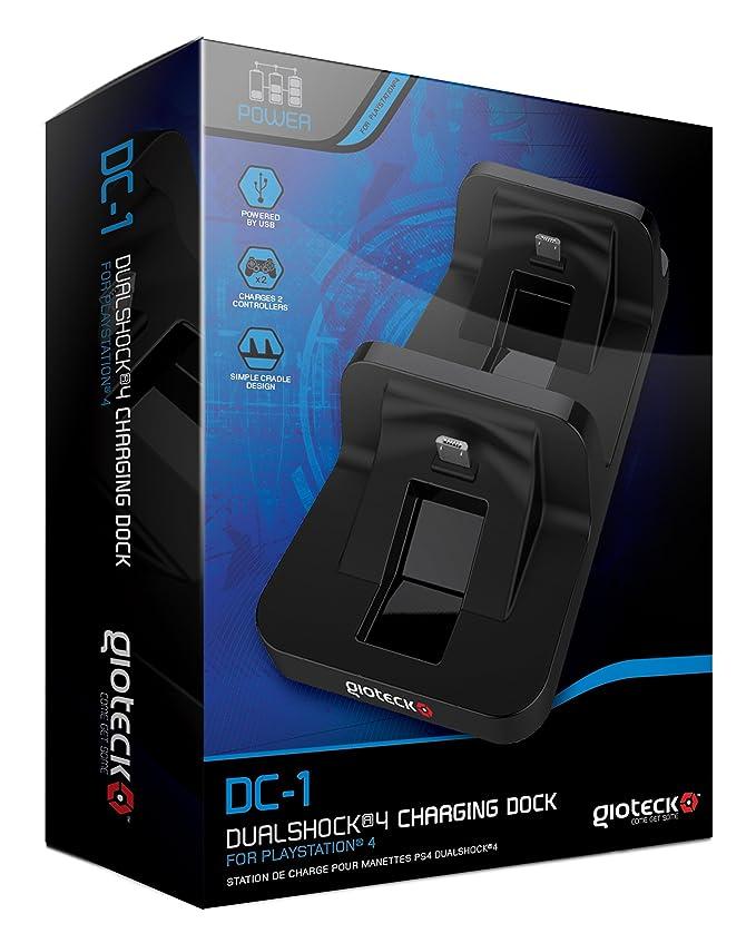 Gioteck - Cargador Para 2 Mandos Dc1 (PS4): Amazon.es: Videojuegos
