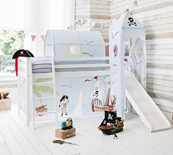 Noa Nani Midsleeper Cabin Bed With Slide And Pirate Pete Tent