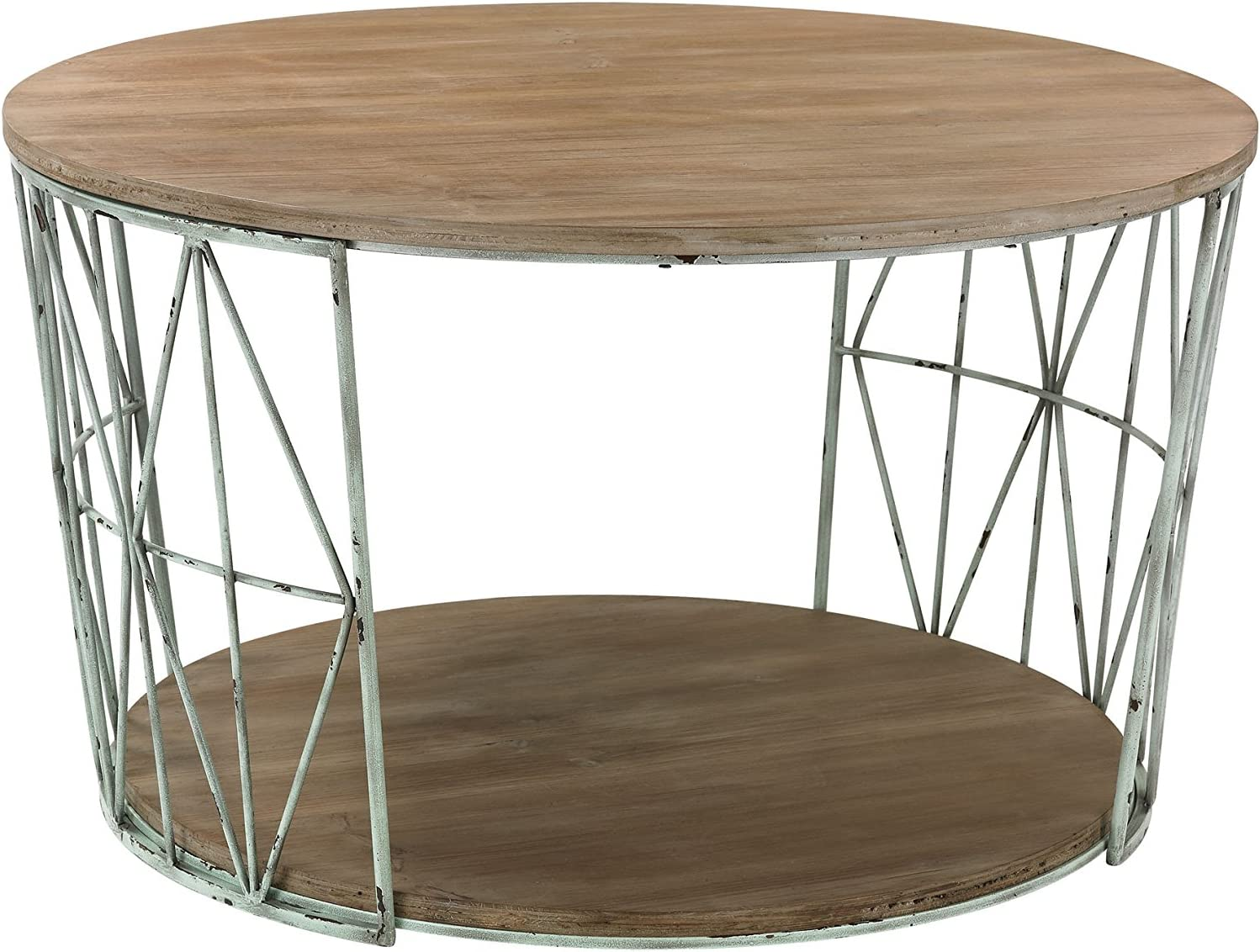 - Amazon.com : Sterling Industries Round Wood And Metal Coffee Table