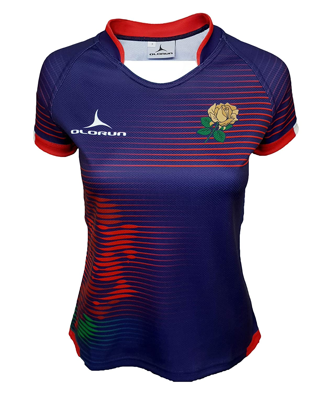 0c35e7d7839 Olorun England Contour Home Nations Ladies Away Rugby Shirt 8-22: Amazon.co. uk: Sports & Outdoors