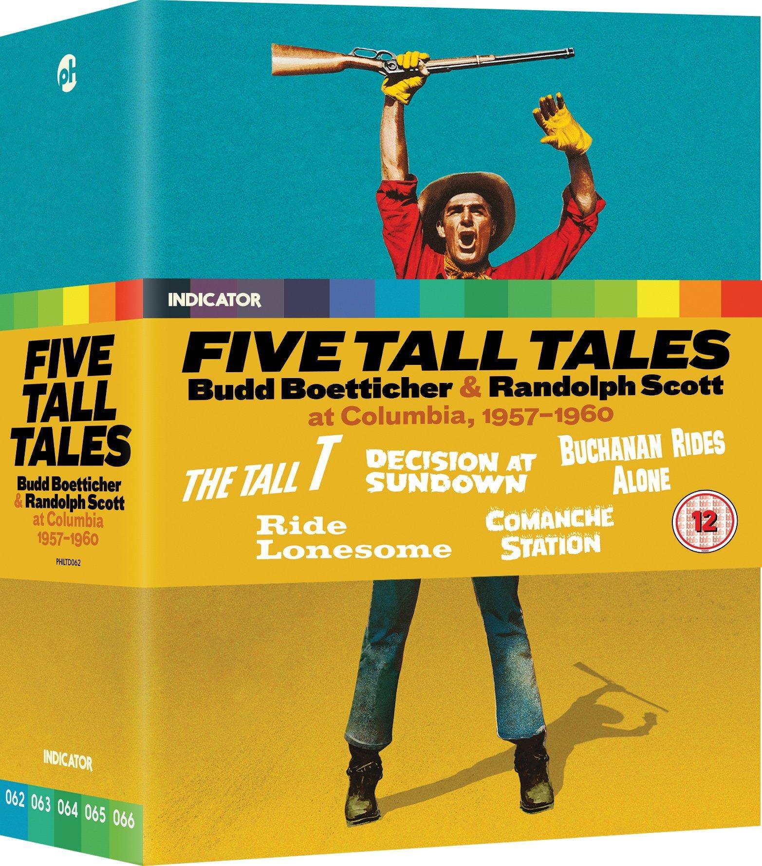 Blu-ray : Five Tall Tales: Budd Boetticher & Randolph Scott (limited Edition) (United Kingdom - Import, 5PC)