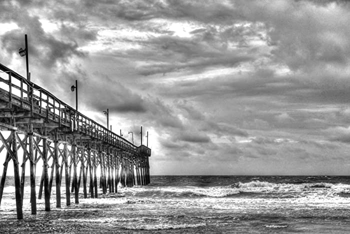 Beach Pictures Of Sunset North Carolina Fishing Pier