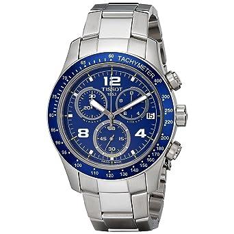 Amazon Com Tissot V8 Blue Quartz Chronograph Sport Men S Watch