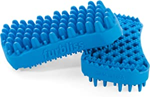 Furbliss Dog Brush for Grooming, Brushing and Bathing Small Pets with Short Hair, Great for the Bath Deshedding and Massaging Your Pet - by Vetnique Labs…