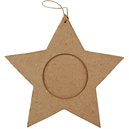 Country Love Crafts Star Shaped Photo Frame Papier Mache: Amazon.co ...
