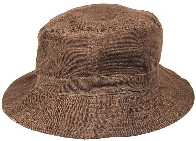 2780994f1af FabSeasons Brown Corduroy Bucket Hat Cap  Amazon.in  Clothing ...