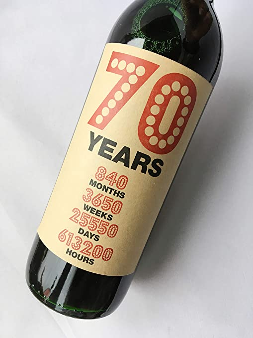 Purpleproducts - Etiqueta para Botella de Vino de 70 ...