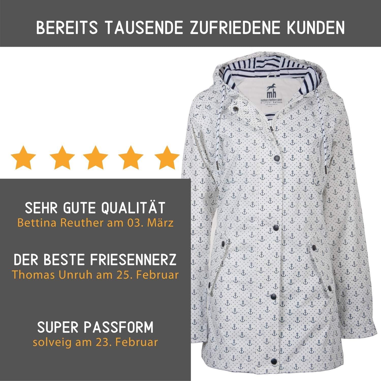 Parka Jacke Wasserdicht Winddicht Michael Heinen Damen Regenjacke Regenmantel Friesennerz