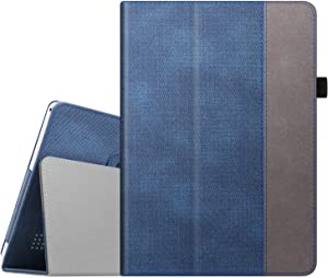 Fintie Case for Dragon Touch 10 inch K10 / Notepad K10 / Max10 Tablet, Premium PU Leather Stand Cover Compatible Lectrus 10.1, Victbing 10, Hoozo 10, Winsing 10, ZONKO 10.1 Android Tablet (Indigo)