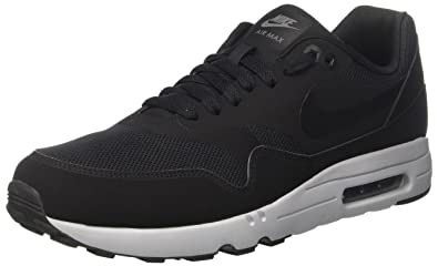 new product b71db 1ec21 Nike Herren Air Max 1 Ultra 2.0 Essential Laufschuhe, Schwarz (Black /  Black /