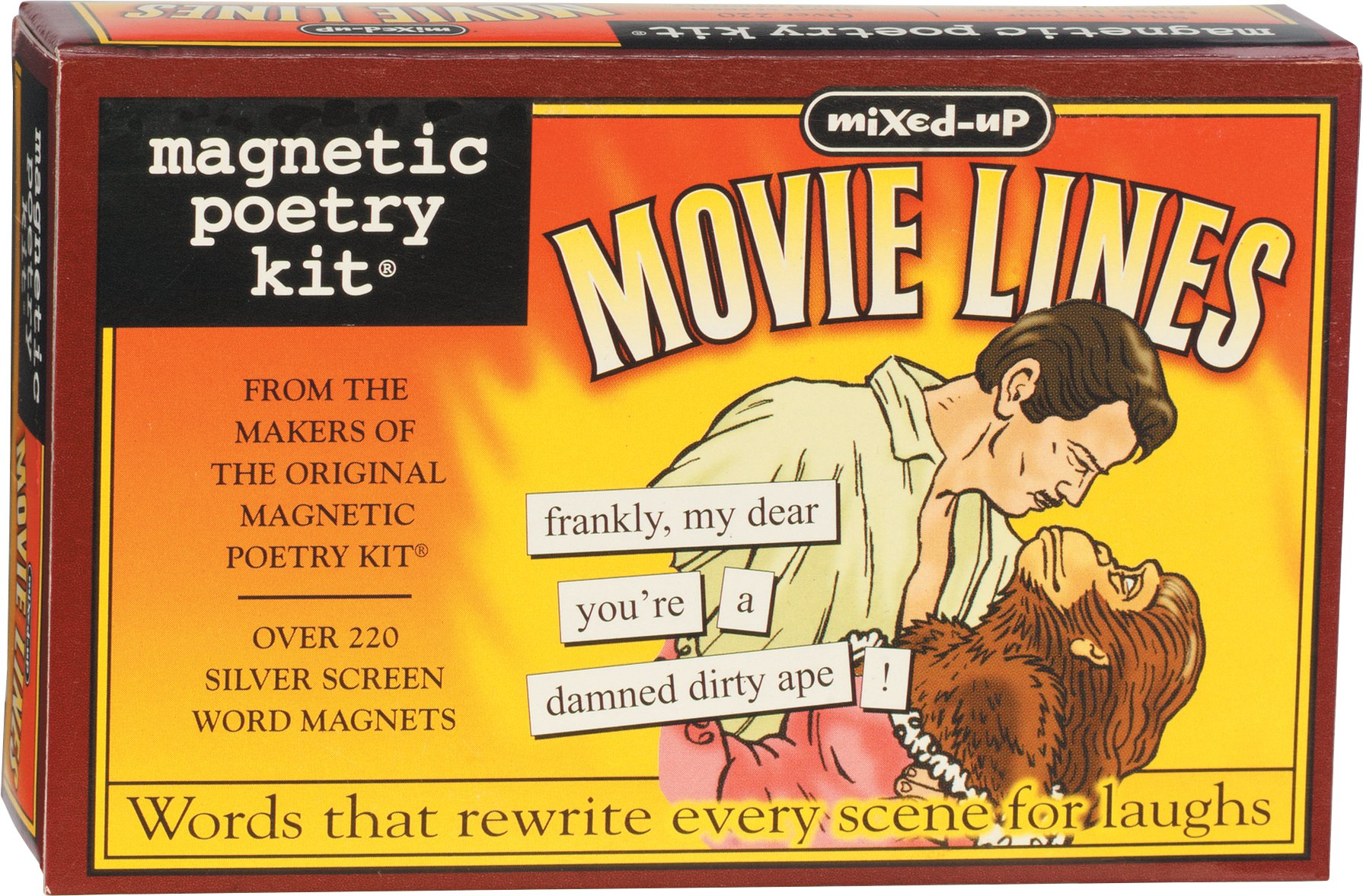 Magnetic Poetry - Mixed-Up Movie Lines Kit - Words for Refrigerator - Write Poems and Letters on the Fridge - Made in the USA