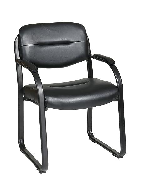 Amazon.com: Office Star Piel Sintética con silla de ...