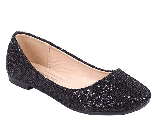 Gold Round Toe Causal Sexy Padded Glitter Women Ballet Flats Shoes Size 8