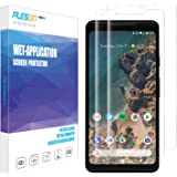 Google Pixel 2 XL Screen Protector, [2-Pack] PLESON [Case Friendly] Pixel 2 XL Screen Protector [Full Coverage][No Lifted Edges] Wet Applied HD Clear film Screen Protector for Pixel 2 XL 2017