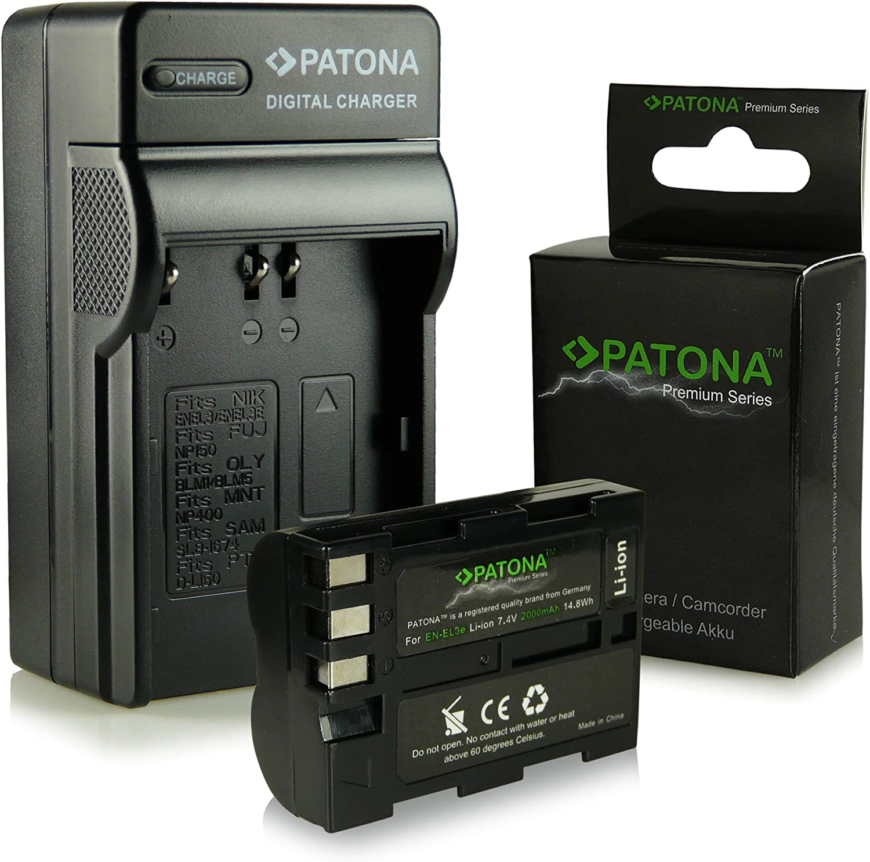 Batteria Patona caricabatterie casa//auto per Nikon D90,D300