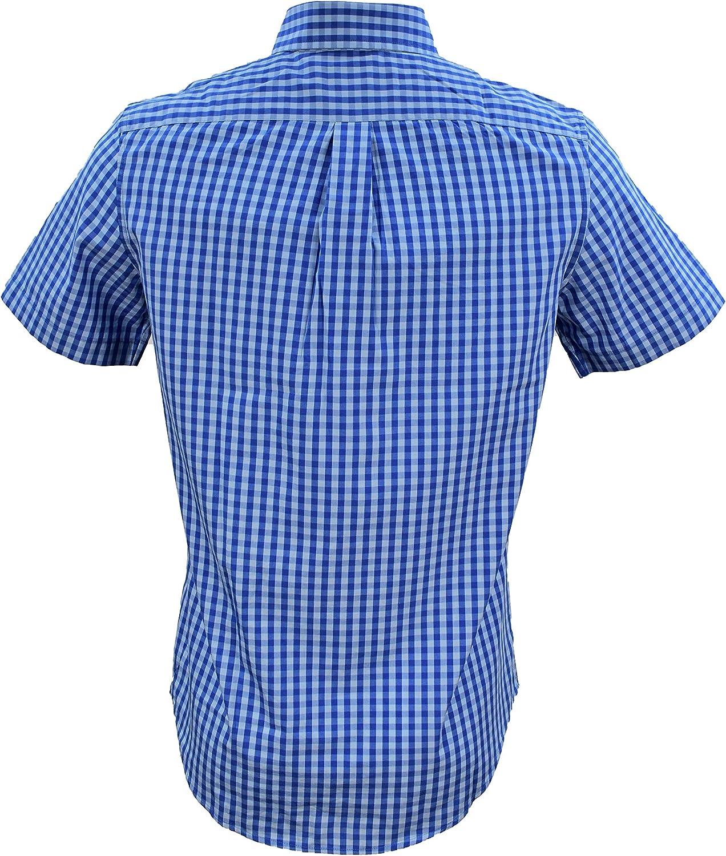 Vineyard Vines - Camisa de Manga Corta para Hombre, diseño de Ballena - Azul - Small: Amazon.es: Ropa y accesorios