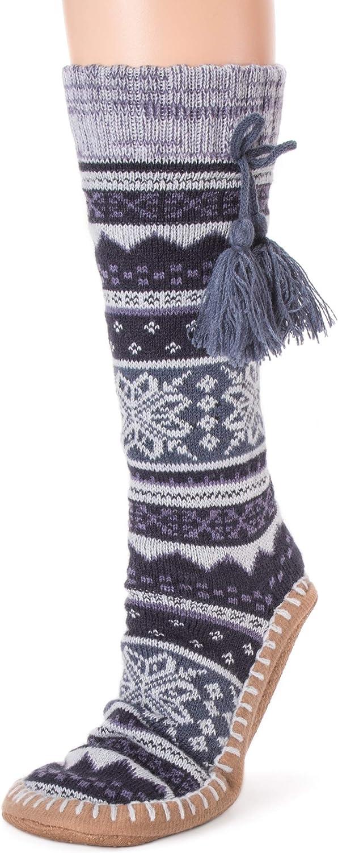 MUK LUKS Womens Slipper Socks with Tassels