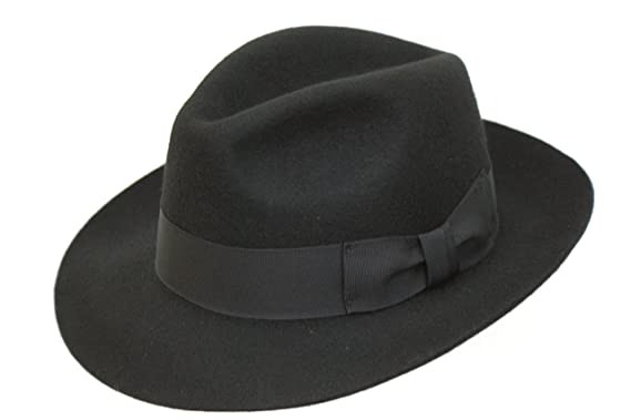 Image Unavailable. Image not available for. Colour  Men s Wool Black Trilby  Fedora Hat a16b19238926