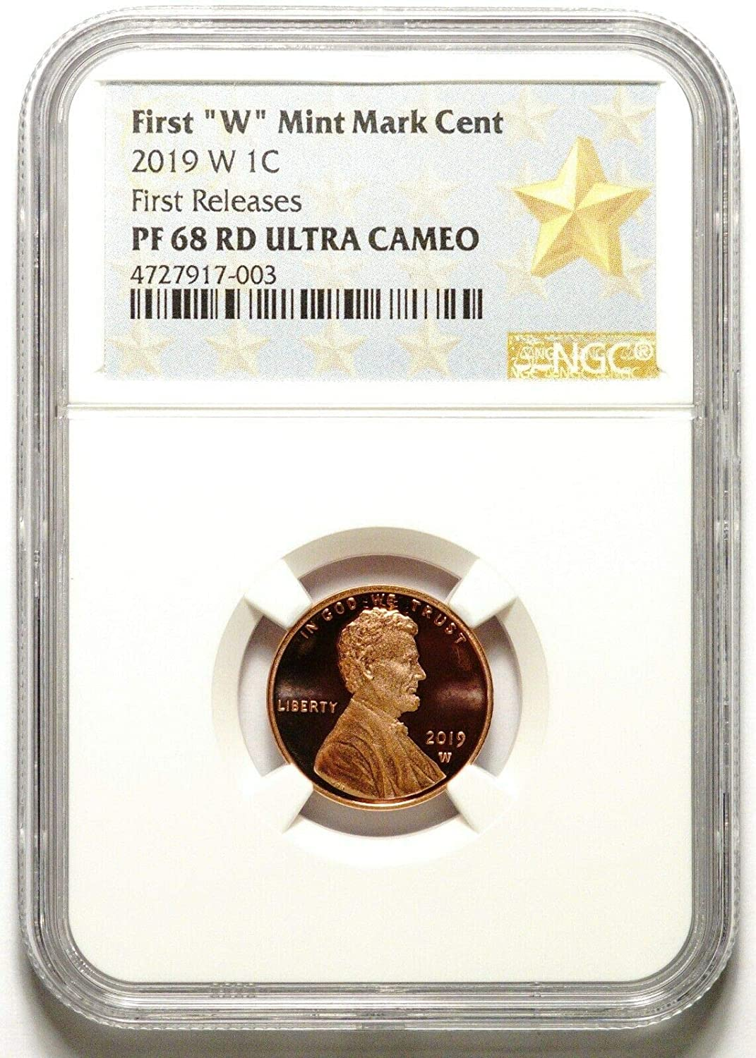 2019 W Lincoln ONE Cent Proof NGC GEM PROOF ULTRA CAMEO EARLY RELEASE.