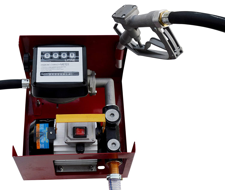 GARTLER selbstansaugende Dieselpumpe 230V Komplett Set mit Zapfpistole Schlauch Z/ählwerk