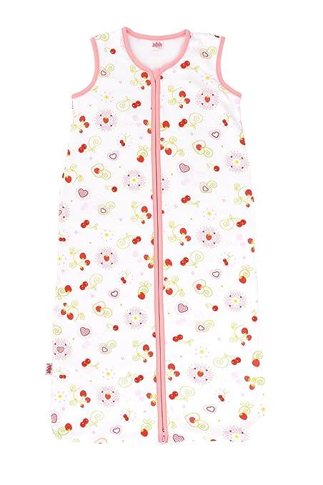 Jollein 049 – 529 – 64913 Saco de dormir Verano, 110 cm, jersey Cherry