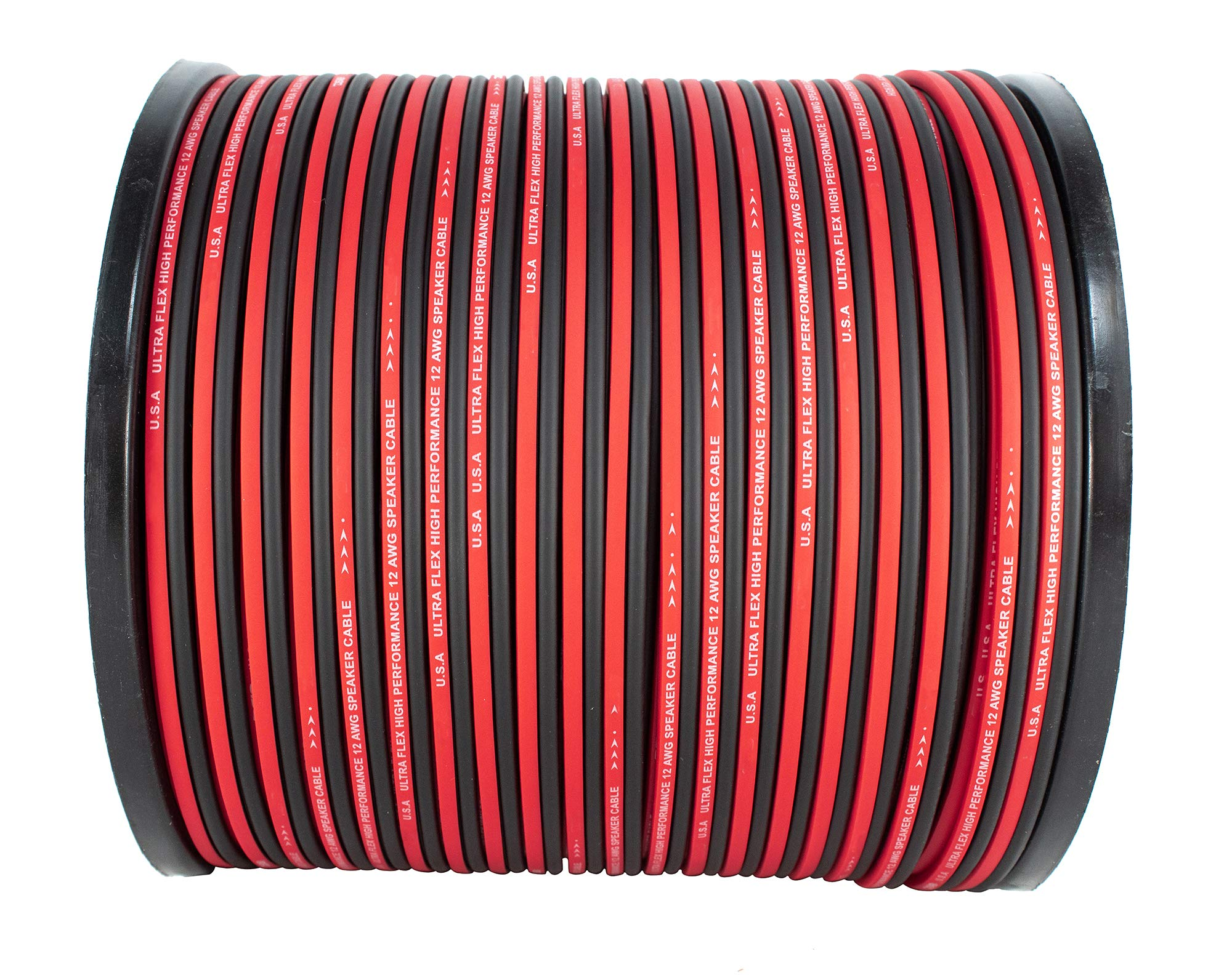 12 AWG 500FT Red Black Speaker Wire Cable Copper Mix True AWG GA Ultra Flex