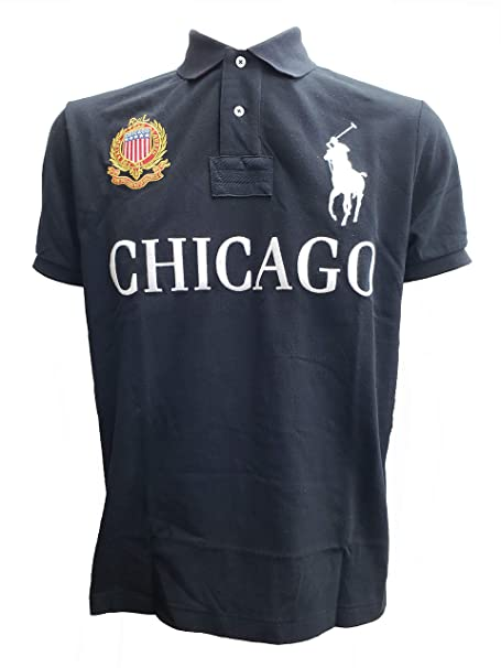 b56454508bd21 Polo Ralph Lauren Mens Custom Slim Fit Mesh City Polo Shirt  Amazon ...