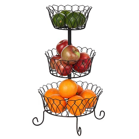 Amazon.com: Carol Wright Gifts - Cesta de alambre de 3 ...