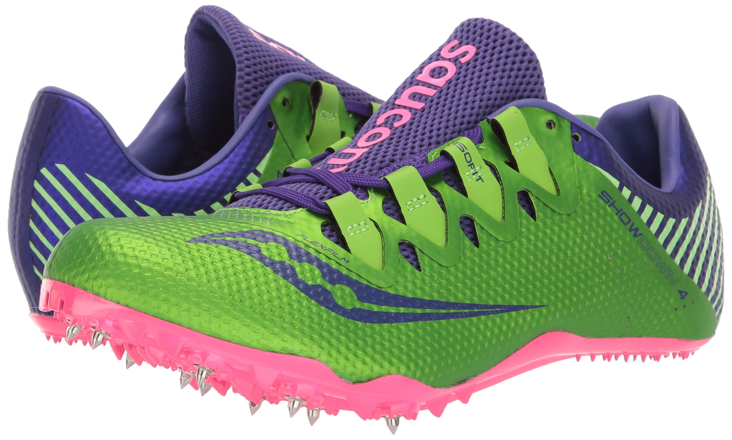 Saucony Showdown 4 Women 5 Slime | Purple by Saucony (Image #6)