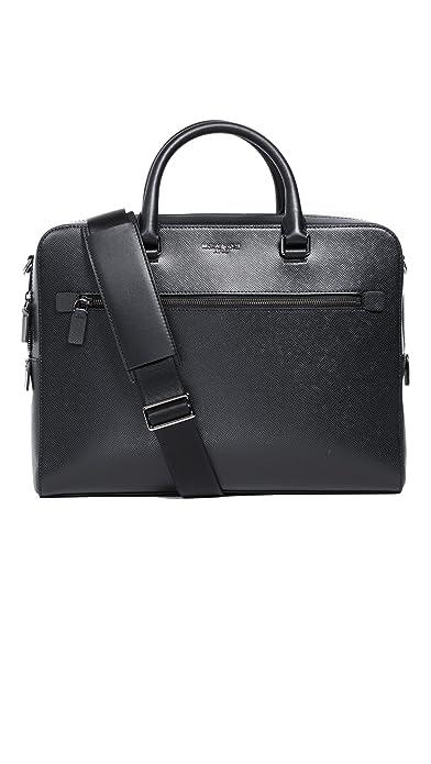 96c395c9a02a Michael Kors Men s Harrison Front Zip Leather Briefcase