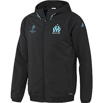 Jkt Xxxl Pre Olympique Veste Adidas Marseille Noir De Pour Homme Ybf67gyv