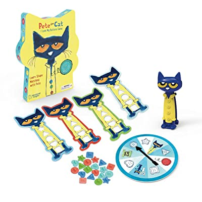 Educational Insights Pete the Cat I Love My Buttons Game - Preschool Shapes Matching Game: Toys & Games