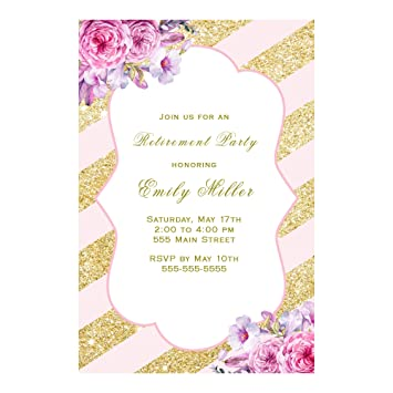 Image Unavailable Not Available For Color 30 Invitations Personalized Adult Retirement Party