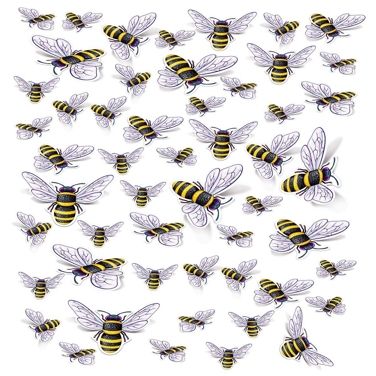 Beistle 53398 Bee Cutouts Yellow//Black//White 6-12