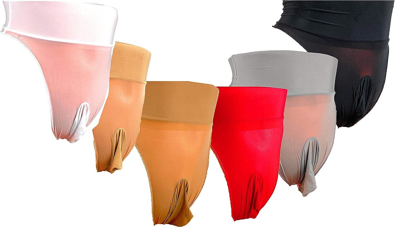 High Waist Glossy Ice Silk Mens Sissy Pouch Panties//Mens Panties