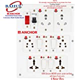 BAHUL power strip extension multi outlet board Fitted with 7 Anchor Sockets(5 &15 Amp) with 4 Metre Chord With 15 Amp Plug