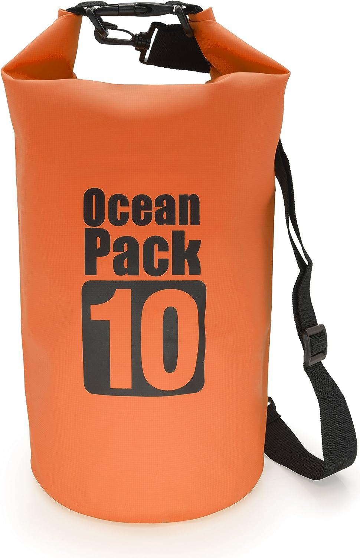 Dry Bag Certifi/é Waterproof Imperm/éable PVC pour Sport Nautique Voile Cano/ë Kayak Rafting MyGadget Sac Etanche 2 L