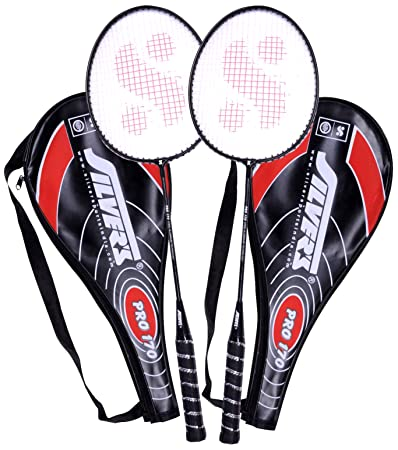 Silver's Pro 170 2 Racquets with Cover Badminton Racquet Badminton Complete Sets