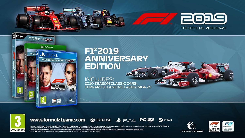 F1 2019 - Anniversary Edition (PS4) (PS4): Amazon co uk: PC